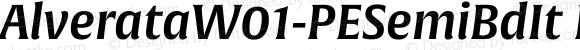 AlverataW01-PESemiBdIt Regular Version 1.00