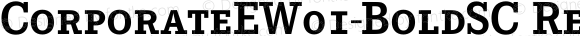 CorporateEW01-BoldSC Regular Version 1.1