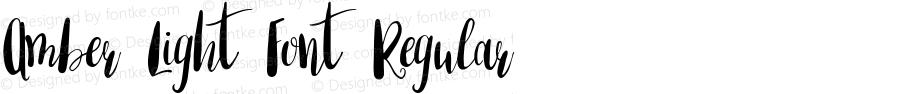 Amber Light Font Regular Version 1.000