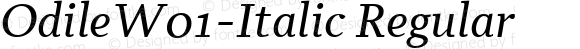 OdileW01-Italic Regular Version 2.00