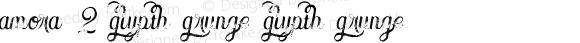 Amora 2 Glypth Grunge Glypth Grunge Version 1.000
