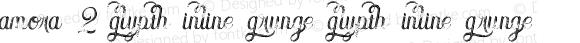Amora 2 Glypth Inline Grunge Glypth Inline Grunge Version 1.000