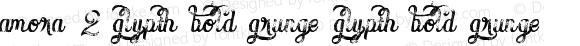 Amora 2 Glypth Bold Grunge Glypth Bold Grunge Version 1.000