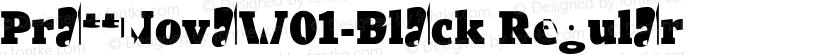 PrattNovaW01-Black Regular Preview Image
