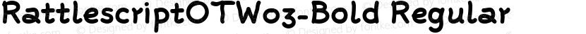 RattlescriptOTW03-Bold Regular Preview Image