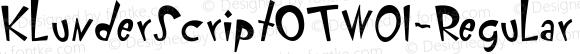 KlunderScriptOTW01-Regular Regular Version 7.504