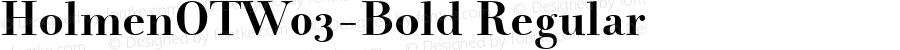 HolmenOTW03-Bold Regular Version 7.502