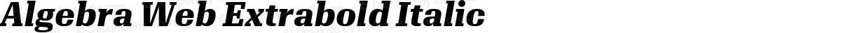 Algebra Web Extrabold Italic