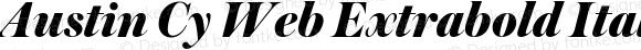 Austin Cy Web Extrabold Italic
