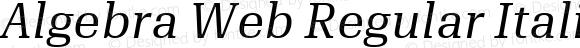 Algebra Web Regular Italic