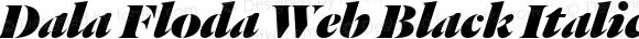 Dala Floda Web Black Italic