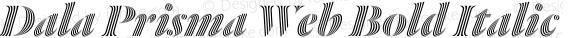Dala Prisma Web Bold Italic