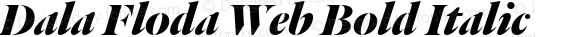 Dala Floda Web Bold Italic