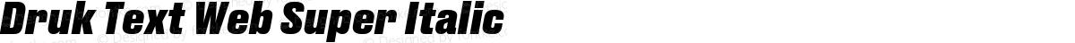 Druk Text Web Super Italic