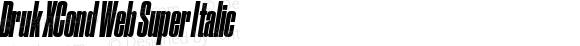 Druk XCond Web Super Italic