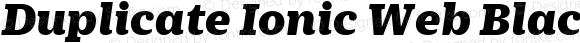 Duplicate Ionic Web Black Italic