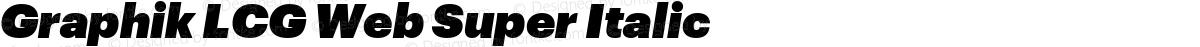 Graphik LCG Web Super Italic