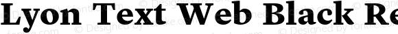 Lyon Text Web Black Regular Version 001.002 2009