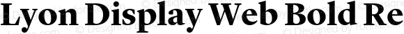 Lyon Display Web Bold Regular Version 001.000 2010