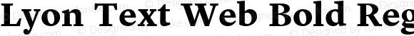 Lyon Text Web Bold Regular Version 001.002 2009
