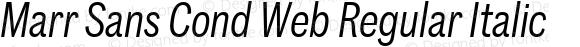 Marr Sans Cond Web Regular Italic