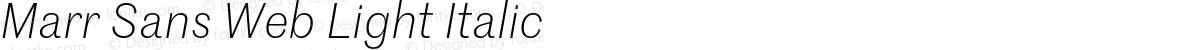 Marr Sans Web Light Italic