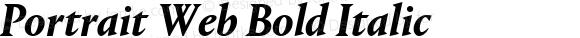 Portrait Web Bold Italic
