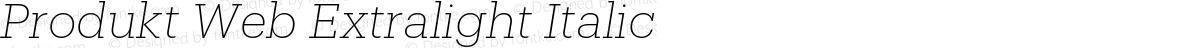 Produkt Web Extralight Italic