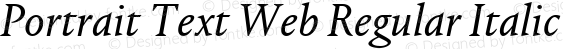 Portrait Text Web Regular Italic
