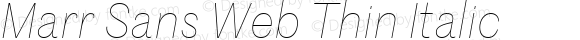 Marr Sans Web Thin Italic