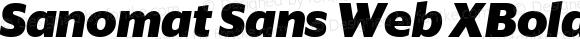 Sanomat Sans Web XBold Italic