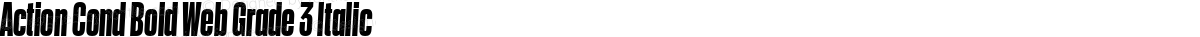 Action Cond Bold Web Grade 3 Italic