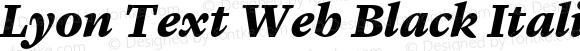 Lyon Text Web Black Italic Version 001.002 2009