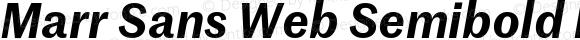 Marr Sans Web Semibold Italic