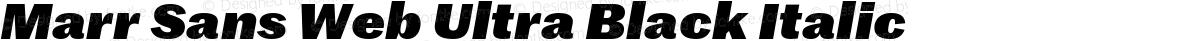 Marr Sans Web Ultra Black Italic