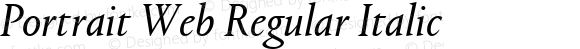 Portrait Web Regular Italic