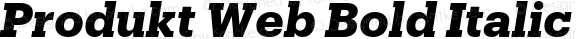 Produkt Web Bold Italic