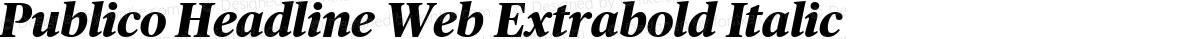 Publico Headline Web Extrabold Italic