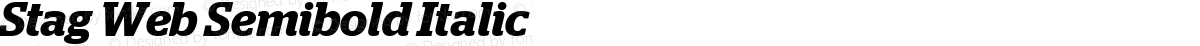 Stag Web Semibold Italic