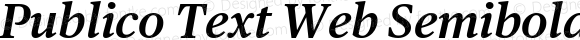Publico Text Web Semibold Italic