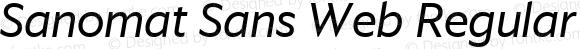 Sanomat Sans Web Regular Italic