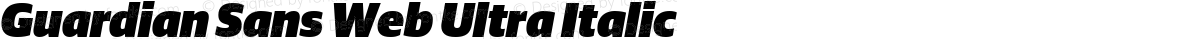 Guardian Sans Web Ultra Italic