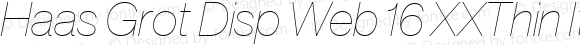 Haas Grot Disp Web 16 XXThin Italic
