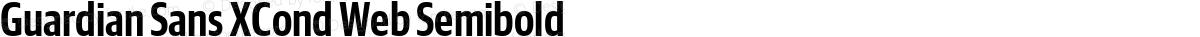 Guardian Sans XCond Web Semibold