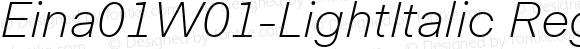 Eina01W01-LightItalic Regular Version 1.00