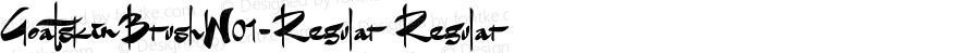 GoatskinBrushW01-Regular Regular Version 1.00