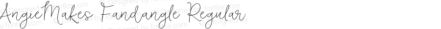 AngieMakes Fandangle Regular Version 1.000;PS 001.000;hotconv 1.0.70;makeotf.lib2.5.58329 DEVELOPMENT