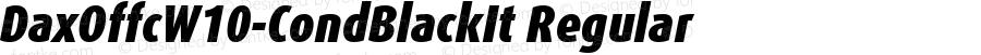 DaxOffcW10-CondBlackIt Regular Version 7.504