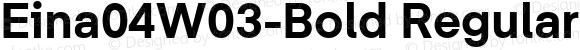 Eina04W03-Bold Regular Version 1.00
