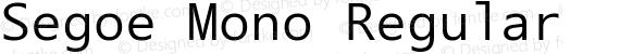 Segoe Mono Regular preview image